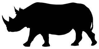 Rhino. High detailed vector silhouette of a rhino isolated on white background. Full editable eps file available vector illustration
