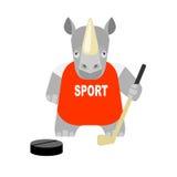 Rhino hokeist Stock Images
