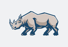 Rhino. Illustration of wild life rhino Stock Images