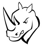 Rhino. Illustrator desain .eps 10 Stock Images