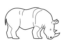 Rhino. Illustrator desain .eps 10 stock illustration