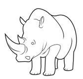 Rhino. Illustrator design .eps 10 Royalty Free Stock Photo
