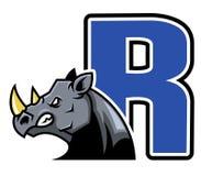 Rhino Initial Royalty Free Stock Photo