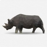 Rhino isolated on a white background. Stock Photography