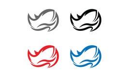 Rhino Logo. Vector illustration style is flat iconic and design elements on white background Stock Images