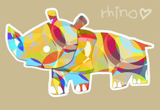 Rhino love Royalty Free Stock Photography