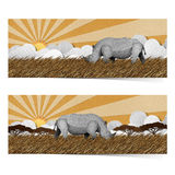 Rhino made from recycled paper. Royalty Free Stock Photography