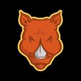 Rhino Mascot Stock Photo