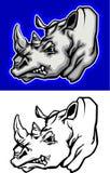 Rhino Mascot Logo. Vector Images of Rhinoceros Mascot Logos Royalty Free Stock Image