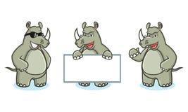 Rhino Mascot Vector happy Royalty Free Stock Image