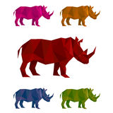 Rhino mozaic Stock Photo