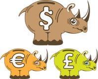 Rhino Piggy Bank vector Stock Photography