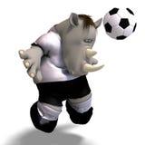 Rhino plays soccer / football royalty free illustration