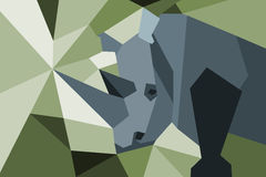 Rhino with poly diagonal design. Stock Photography
