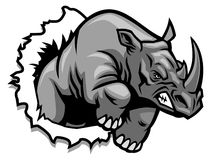 Rhino ripping. Vector of rhino ripping the paper royalty free illustration