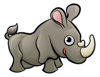 Rhino Safari Animals Cartoon Character Royalty Free Stock Photos