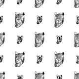 Rhino seamless pattern. Seamless pattern with rhino. Design element in vector Stock Photography