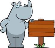 Rhino Sign Royalty Free Stock Image