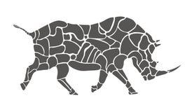 Rhino silhouette Stock Image