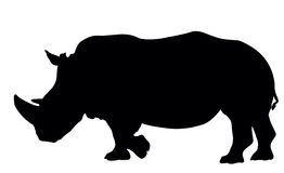 Rhino silhouette Stock Photos