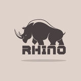 Rhino Silhoulette Stock Photography