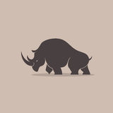 Rhino Silhoulette Royalty Free Stock Images