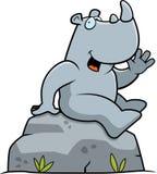 Rhino Sitting Stock Photo