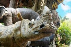 Rhino statue Stock Photo