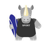 Rhino surfer Stock Photography