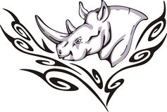 Rhino tattoo Royalty Free Stock Photos