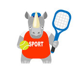 Rhino tennis player Stock Photos