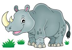 Rhino theme image 1. Eps10 vector illustration stock illustration