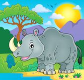 Rhino theme image 2 Royalty Free Stock Images