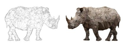 Rhino triangulation vector Royalty Free Stock Photos