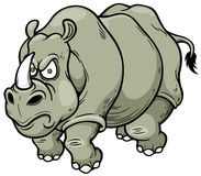 Rhino. Vector illustration of Cartoon rhino stock illustration