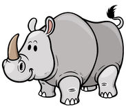 Rhino. Vector illustration of Cartoon rhino vector illustration