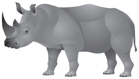 Rhinocéros africain dedans   Photographie stock