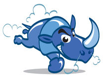 Rhinocéros bleu Photos stock