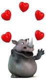 Rhinocéros d'amusement - illustration 3D Image libre de droits