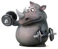 Rhinocéros d'amusement - illustration 3D Image stock