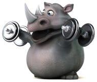 Rhinocéros d'amusement - illustration 3D Photos stock