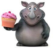 Rhinocéros d'amusement - illustration 3D Photo libre de droits