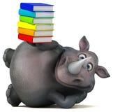 Rhinocéros d'amusement - illustration 3D Images libres de droits