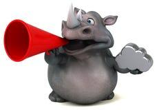 Rhinocéros d'amusement - illustration 3D Photos libres de droits