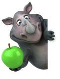 Rhinocéros d'amusement - illustration 3D Photographie stock libre de droits