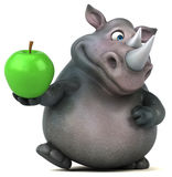 Rhinocéros d'amusement - illustration 3D Photo stock