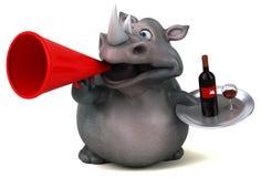 Rhinocéros d'amusement - illustration 3D Photographie stock