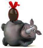 Rhinocéros d'amusement - illustration 3D Images stock