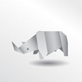 Rhinocéros d'origami Illustration de Vecteur
