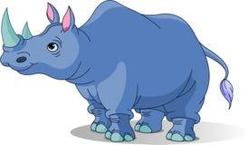 Rhinocéros de dessin animé illustration stock